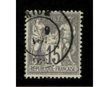 1876/81 - LOTTO/12868 - FRANCIA - 15c. GRIGIO  - USATO