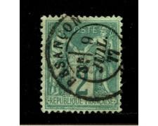 1876/81 - LOTTO/12870 - FRANCIA - 2c. VERDE - USATO