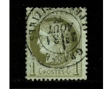 1871/75 - LOTTO/12874 - FRANCIA - 1c. VERDE OLIVA - USATO