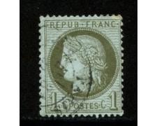 1871/75 - LOTTO/12875 - FRANCIA - 1c. VERDE OLIVA - USATO