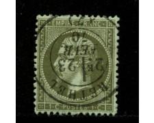 1862 - LOTTO/12876 - FRANCIA - 1c. VERDE OLIVA  NAPOLEONE III° - USATO