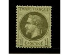 1862/70 - LOTTO/12878 - FRANCIA - 1c. VERDE BRONZO  NAPOLEONE III° - NUOVO