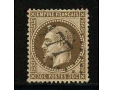 1862/70 - LOTTO/12880 - FRANCIA - 30c. BRUNO NAPOLEONE III° - USATO