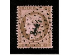 1871/75 - LOTTO/12892 - FRANCIA - 10c. BRUNO SU ROSA CERERE - USATO