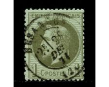 1862/70 - LOTTO/12894 - FRANCIA - 1c. VERDE BRONZO NAPOLEONE III° - USATO
