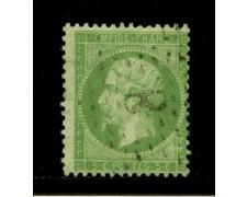 1862 - LOTTO/12895 - FRANCIA - 5c. VERDE NAPOLEONE III° - USATO