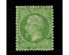 1862 - LOTTO/12896 - FRANCIA - 5c. VERDE NAPOLEONE III° - USATO