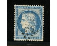 1870 - LOTTO/12900 - FRANCIA - 20c. AZZURRO CERERE - USATO