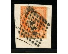 1853/60 - LOTTO/12902 - FRANCIA - 40c. GIALLO ARANCIO NAPOLEONE III° - USATO SU FRAMMENTO