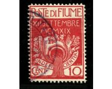1920 - LOTTO/12906 - FIUME - 10c. INGRESSO LEGIONARI - USATO