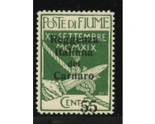 1920 - LOTTO/12909 - FIUME - 55 SU 5c. REGGENZA ITALIANA CARNARO - LING.
