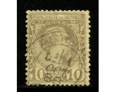 1885 - LOTTO/12910 - MONACO - 10c. PRINCIPE CARLO III° - USATO