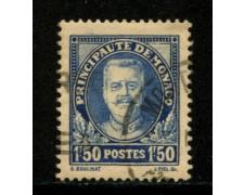 1933 - LOTTO/12913 - MONACO - 1,50 Fr. OLTREMARE PRINCIPE LUIGI II° - USATO
