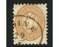 LOMBARDO VENETO - 1863 - LOTTO/12929 - 15s. BRUN0 - USATO