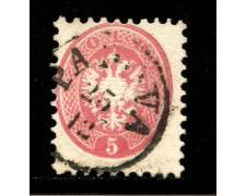LOMBARDO VENETO - 1864 - LOTTO/12937 - 5s. ROSA - USATO