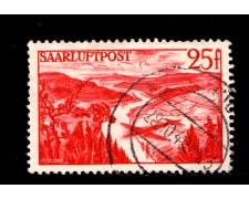 1948 - LOTTO/12955 -  SARRE - 25 Fr. ROSSO POSTA AEREA - USATO