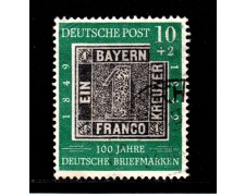 1949 -  LOTTO/12960 - GERMANIA - 10+2p. CENTENARIO FRANCOBOLLO - USATO