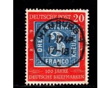 1949 - LOTTO/12961 - GERMANIA - 20p. CENTENARIO FRANCOBOLLO - USATO