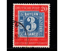 1949 - LOTTO/12962 - GERMANIA - 20p. CENTENARIO FRANCOBOLLO - USATO