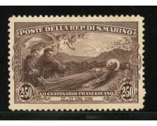 1927 - LOTTO/12974 - SAN MARINO - 2,50 LIRE SAN FRANCESCO - LING.