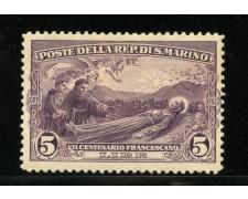 1927 - LOTTO/12975 - SAN MARINO - 5 LIRE SAN FRANCESCO - LING.