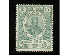 1910 - LOTTO/12998 - REGNO - 15+5c. GARIBALDI PLEBISCITI MERIDIONALI - LING.