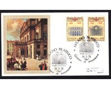 1978 - LOTTO/13010 - REPUBBLICA - BICENTENARIO TEATRO ALLA SCALA 2v. - BUSTA FDC