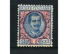 1901 - LOTTO/13013 - REGNO - 5 LIRE VITTORIO EMANUELE III° - LING.