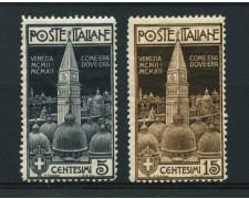 1912 - LOTTO/13016 - REGNO - CAMPANILE DI VENEZIA 2v. - NUOVI
