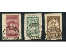 1921 - LOTTO/13018 - REGNO - DANTE ALIGHIERI 3v .  USATI