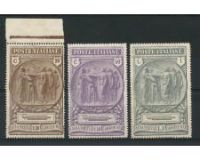 1923 - LOTTO/13024 - REGNO - PRO CAMICIE NERE 3v. - LING.