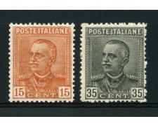 1929 - LOTTO/13044 - REGNO - EFFIGIE VITTORIO EMANUELE III° 2v. - NUOVI