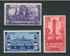 1931 - LOTTO/13047 - REGNO - ACCADEMIA NAVALE LIVORNO 3v. - NUOVI