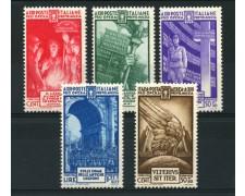 1935 - LOTTO/13054 - REGNO - PRO MILIZIA 5v.- NUOVI