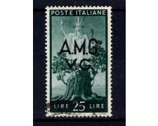 1945 - LOTTO/13075 - VENEZIA GIULIA - 25 Lire DEMOCRATICA - USATO