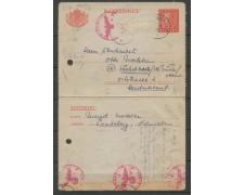 1915 - LOTTO/13083 - SVEZIA - BIGLIETTO POSTALE CON ANNULLI DI CENSURA TEDESCHI