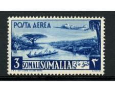 1950 - LOTTO/13092 - SOMALIA AFIS - 3s. AZZURRO POSTA AEREA - LING.