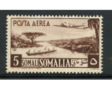 1950/51 - LOTTO/13093 - SOMALIA AFIS - 5s. BRUNO ROSSO POSTA AEREA - LING.