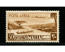 1950/51 - LOTTO/13095 - SOMALIA AFIS - 30c. POSTA AEREA - LING.