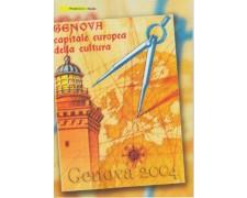 2004 - LOTTO/13119 - ITALIA REPUBBLICA - GENOVA 2004 FOLDER