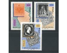 2001 - LOTTO/13128N - REPUBBLICA - CENTENARIO PRIMI FRANCOBOLLI 3v.  NUOVI