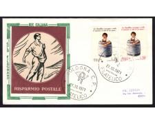 1971 - LOTTO/13137 - REPUBBLICA - RISPARMIO POSTALE - BUSTA FDC