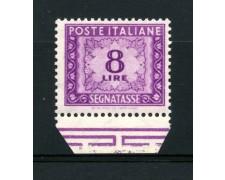 1955/66 - LOTTO/13196 - REPUBBLICA  - SEGNATASSE  8 LIRE FILIGRANA STELLE - NUOVO