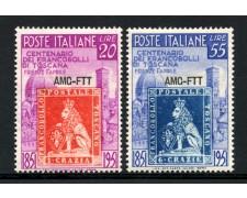 1951 - LOTTO/13238 - TRIESTE A - FRANCOBOLLI DI TOSCANA 2v. - NUOVI