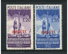 1950 - LOTTO/13242 - TRIESTE A - RADIODIFFUSIONE  2v. -  NUOVI