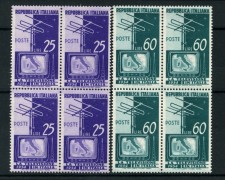 1954 - LOTTO/13252 - REPUBBLICA - TELEVISIONE NAZIONALE 2v. - QUARTINE NUOVE