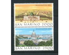 1989 - LOTTO/13315 - SAN MARINO - WASHINGTON 2v. - NUOVI