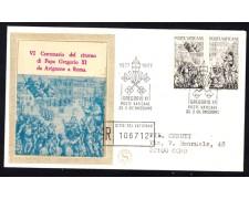 1977 - LOTTO/13337 - VATICANO - PAPA GREGORIO XI° - BUSTA FDC