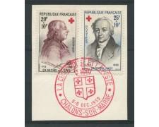 1959 - LOTTO/13368 - FRANCIA - CROCE ROSSA 2v. - USATI