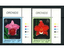 1984 - LOTTO/13380 - JERSEY - NATALE ORCHIDEE 2v. - NUOVI